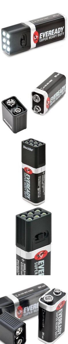 LED Flashlights | Blocklite SW - 805 9V 2 Modes 36LM Mini Toggle Switched 6 LEDs Alkaline Flashlight