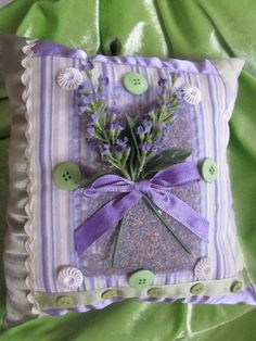 Lavender Scented Sachet Accent Bed Pillow by ItseeBitsee on Etsy, $8.00