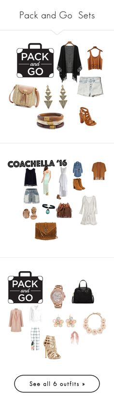 """""""Pack and Go  Sets"""" by lisha30-2010 ❤ liked on Polyvore featuring Abercrombie & Fitch, Chico's, House of Harlow 1960, Bamboo, contest, MANGO, LE3NO, MICHAEL Michael Kors, Calypso St. Barth and Chicwish"""