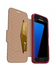 Otterbox Samsung Galaxy S7 Strada Case - Ruby Red Leather Cover