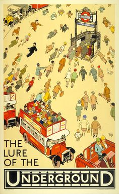 Vintage London Underground Posters On Exhibition For The Tube's 150th Year