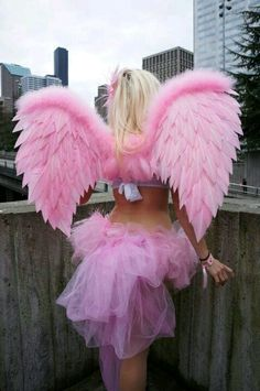 Hello guys it's Jessica and I decided to make a Halloween costume early it's a sexy girly pink angel Mike really wants to get involved with my costume portfolio now ; Color Rosa, Pink Color, Pink Purple, Hot Pink, Pretty In Pink, Pink Love, Vintage Pink, Tout Rose, Fantasias Halloween