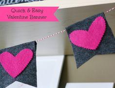 DIY: Felt Valentine Banner