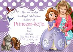 36 best princess sofia the first birthday party images on pinterest sofia the first sofia the first birthday party invitation sofia the first birthday filmwisefo