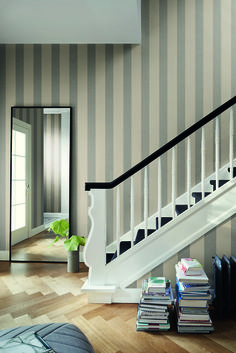 Wallpaper Collection, Vintage Stil, Sweet Home, Stairs, Pictures, Home Decor, Living Room Grey, Pastel Wallpaper, Photos