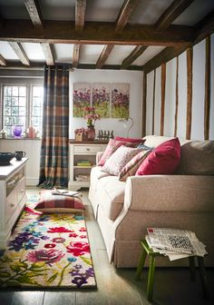 Misty moors living floral homeware cottage cosy for for Space fabric dunelm