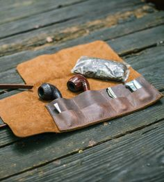Leather Tobacco Pipe Roll by Go Forth Goods on Scoutmob