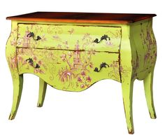 Nice Commode. Customize items with any of our wide range of finishes, colors, and hand painted artwork. Any item can be painted in over million ways enabling items to be truly unique. The possibility are nearly endless and include stained, distressed, textured, antiqued, weathered and metallic finishes. In addition, artwork is available on most items. Items can be customized with any of our hand painted designs.#StevenShell