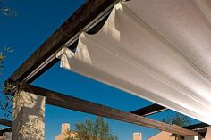 metal running tracks attached to pergola, neater option than stainless steel wires