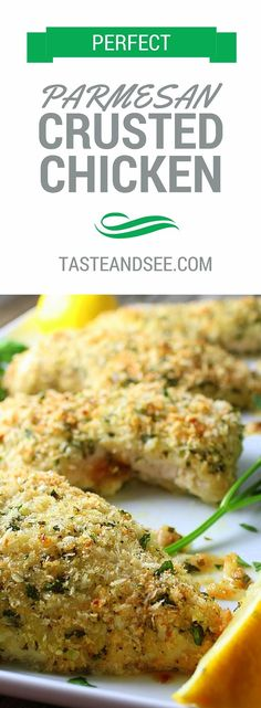Parmesan Crusted Chicken: Easy enough for a weeknight but elegant ...