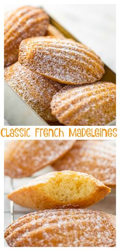 Classic French Madeleines Recipe - Baker by Nature - French Cuisine - Keto Friendly Desserts, Low Carb Desserts, Just Desserts, Madeline Cookies Recipe, French Dessert Recipes, French Recipes, German Recipes, Madelines Recipe, Appetizer Recipes