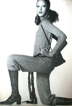 Vogue US February 1971  Pat Cleveland photographed by Irving Penn