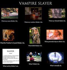 Buffy the vampire slayer, what i do meme.