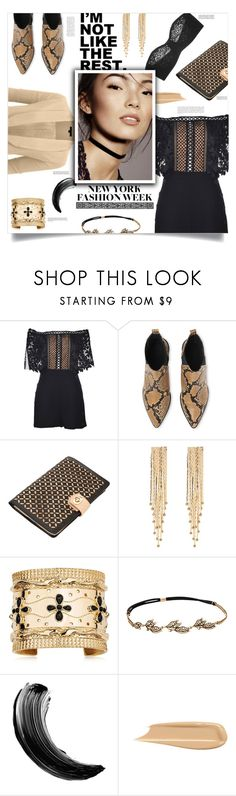 """Fifty Shades Darker, James Foley (2017)"" by agla83 ❤ liked on Polyvore featuring self-portrait, Whistles, Wolf, Stella + Ruby, Aurélie Bidermann, Chloe + Isabel, LE3NO, Maybelline, Wacoal and Whiteley"