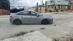 Grey lowered Chevy Cruze Car Mods, Chevrolet Cruze, Super Cars, Chevy, Audi, Goals, Album, Sport, Rock