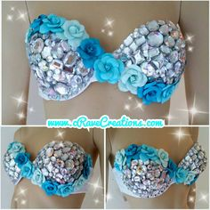 Hey, I found this really awesome Etsy listing at https://www.etsy.com/listing/205422265/turquoise-roses-blingy-deluxe-custom-bra