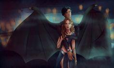 Feyre and Rhysand by silviarts. ACOMAF ACOWAR Sarah J Maas