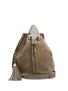 Anja Tassel suede and leather bucket bag   Saint Laurent   MATCHESFASHION.COM AU