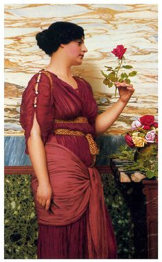 p-Godward_A_Red_Red_Rose