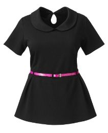 Belted Peplum Top Plus Size