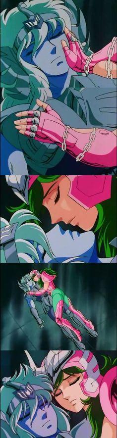 Shun y Hyoga se duermen una siestita. LOL