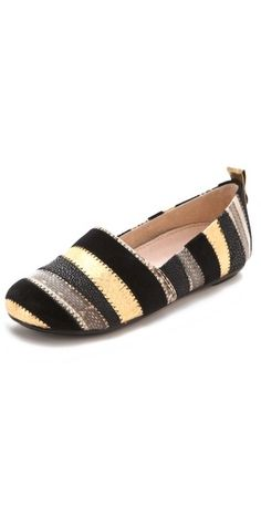 (Limited Supply) Click Image Above: House Of Harlow 1960 Kail Exotic Stripe Flats
