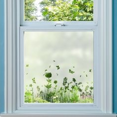 Patterned Window Film offers a stylish and contemporary fix to window privacy. View our range of decorative window films styles, such as period, Victorian and contemporary. Bathroom Window Glass, Window Glass Design, Porch Windows, Windows And Doors, Window Coverings, Window Treatments, Beautiful Blinds, Deco Stickers, Sandblasted Glass