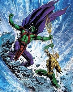 Aquaman vs Martian Manhunter | #igers #instahub #instagood #instagramhub #iphonesia #instagrammers #amazing #beautiful #photo #entertainment #picture #photooftheday #pictureoftheday #warnerbrothers #batman #dccinematicuniverse #anime #cartoon #superman #justiceleague #dccomics #games #fiction #book #comics #dc #dcuniverse #dcgramm