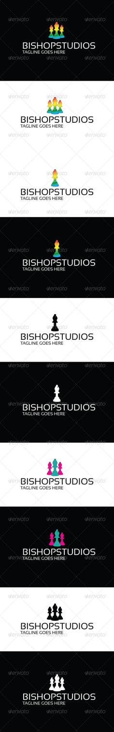 Bishop Studios Logo — Vector EPS #paint #smart • Available here → https://graphicriver.net/item/bishop-studios-logo/3682159?ref=pxcr
