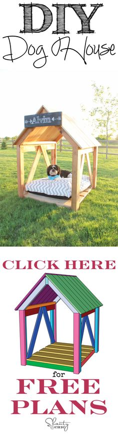 Easy Breezy DIY Dog House! Such a cute idea for the summer!