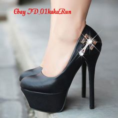 Women's New Arrival Slim High Heels Fashion Rhinestone Sexy Party Shoes Platform | eBay