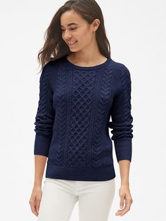 65cc3722cae8e5 Buy Polo Ralph Lauren Kimberly V-Neck Cable Knit Jumper, Hunter Navy Online  at johnlewis.com | My Style | Cable knit jumper, Ralph lauren pullover, ...