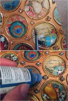 Gwen Lafleur Tutorial: Making A Reliquary with StencilGirl Stencils