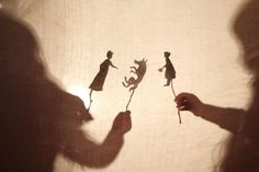 Our shadow puppet show