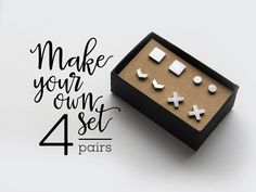 High Quality Stud Earrings / Set of 4 / Perfect gift for mothers day / mom gift  This listing is for 4 PAIRS of your choice priced down to $34