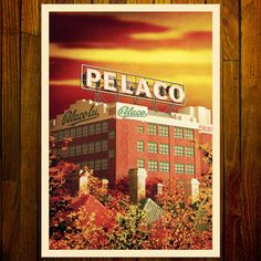 The Pelaco Sign in Richmond is heritage listed as an iconic feature of Melbourne, and is considered part of the popular culture of the city. Melbourne Art, Art Deco Pattern, Stationery Items, Victoria Australia, Sign Printing, Popular Culture, Printmaking, Sydney, Cool Art
