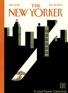 "The New Yorker magazine cover art (2007) © Joost Swarte (Cartoonist, Holland) ... ""Summer Reading"" ... Promote the Arts."