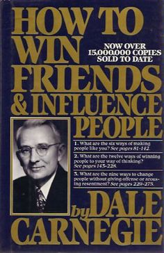 How to Win Friends & Influence People: Dale Carnegie: 9780671027032: His advice is so obvious and so easy, so how come it's so difficult to do yourself and so rarely found in others? Is it cynicism or manipulation? No, it's human nature: Do Unto Others ... If you know you're wrong, admit it. Openly and freely admit whenever you're wrong. And always leave open the possibility that you're wrong even of you think you aren't. ? Friendliness begets friendliness. Always begin that way. Don't…