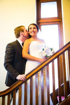 Adorable pose! Wedding Photographer Spokane WA Kelcey Boyce Photography wedding, couple, bride, groom,paper flowers, veil, wedding photos, wedding photography, photography, wedding inspiration, bride, marriage, love, Gonzaga, St Al's, kiss