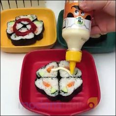 Last Day Promotion ⏰ - Easy to handle, sushi making kit is handy for learners at all stages, thus suitable for both restaurant and home use, have fun and enjoy a delicious sushi dinner with your family and friends! It also makes for a great gift for any sushi lover! Sushi Recipes, Asian Recipes, Cooking Recipes, Healthy Recipes, Plats Healthy, Sushi Maker, Yummy Food, Tasty, Cooking Gadgets