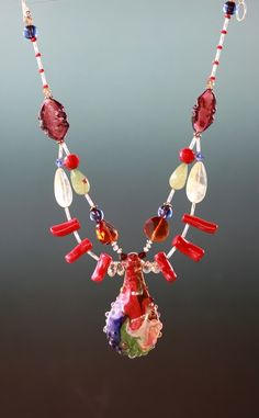 borosilicate art glass necklace by accessoreez