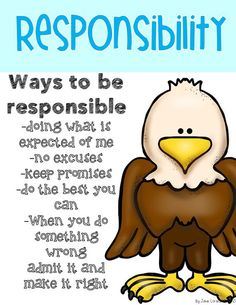 Character Education Posters, Teaching Character, Values Education, Character Counts, Character Trait, Physical Education, Responsibility Lessons, Social Skills Lessons, Respect Lessons