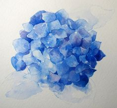 Watercolor: How to Paint a Blue Hydrangea (Everyday Artist) Step-by-Step Watercolor: How to Paint a Blue Hydrangea Watercolor Painting Techniques, Watercolor Artists, Watercolor Cards, Watercolor Flowers, Watercolor Paintings, Watercolors, Splash Watercolor, Watercolor Tips, Watercolor Portraits