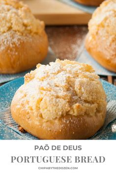 This Pão de Deus (Portuguese bread) which means bread of God, will not disappoint you. So fluffy and soft in the inside and with a crunchy coconut crust.#portugueserecipes #homemadebread #coconutbread #softbread