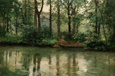Gustave Caillebotte, Yerres in the rain (1875)