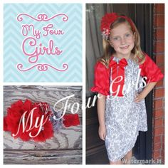 Christmas Dress Girls Dress Toddler Dress Red by MyFourGirlsGifts, $37.95