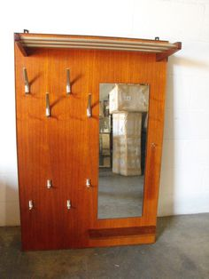 midcentury wall mount coat rack