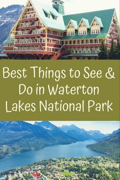 Nestled on the borders of British Columbia and Montana, lies Waterton Lakes National Park, the smallest National Park in the Canadian Rockies. You can hike, take a boat cruise or wildlife sightseeing. Waterton Park, Waterton Lakes National Park, Zion National Park, Canada National Parks, Parks Canada, Canada Trip, Canadian Travel, Canadian Rockies, Alberta Travel