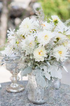 Inspiration – Mercury Glass – Ultrapom: wedding and event decor rental  Mercury + daisys
