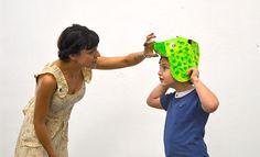 Mascaras Origami de #oso #conejo para los #niños